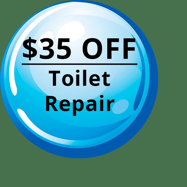 $35 OFF - Toilet Repair
