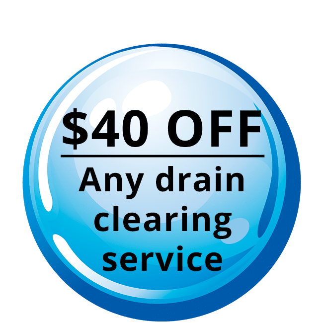 40% - Any drain Clearing Service Coupon