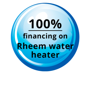 100% - Financing on Rheem Water Coupon