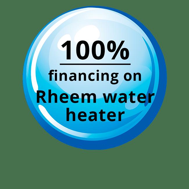 100% - Financing on Rheem Water Coupon